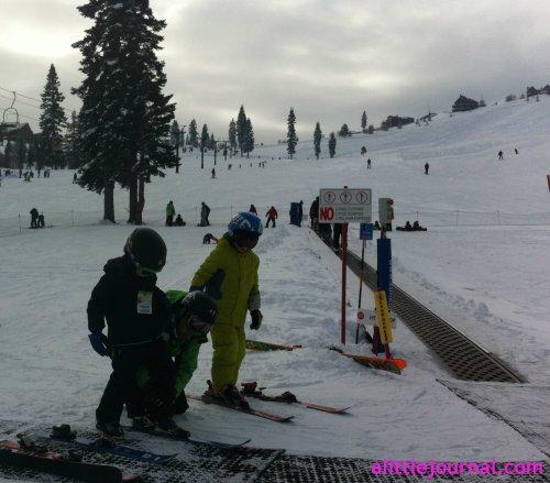first ski lesson